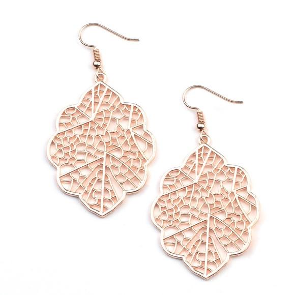 Paparazzi Meadow Mosaic Rose Gold Earrings, NWT
